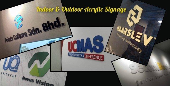 Acrylic Signage Home Slider Malaysia