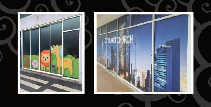 Art Creative Colour Printing Glass Sticker Slider