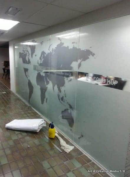 World map wall and glass sticker malaysia view larger image sticker printing art creative gumiabroncs Image collections