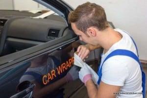 Car Sticker Installation