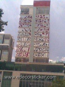 Building Glass Sticker Design Malaysia