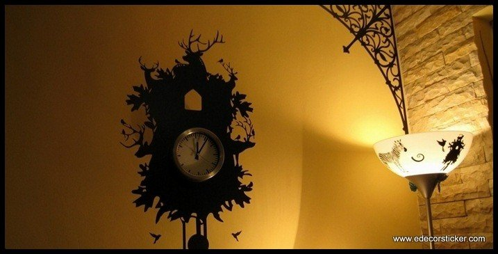 Antique Clock Wall Sticker